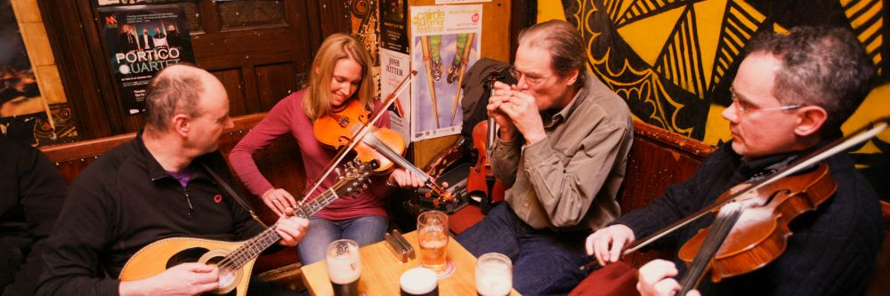 Traditional Irish Music played in a County Sligo pub