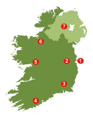Map Of Ireland On Your Face.Ireland Travel Guide By Locals Tips Guides Tours Travelling